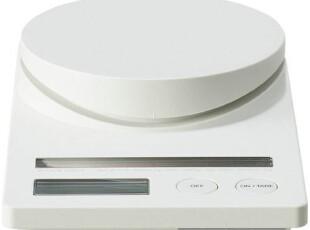 MUJI 无印良品 日本产 树脂太阳能厨房用秤 白色,厨房工具,