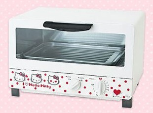 jp直送正品sanrio x三洋hello kitty波点电烤箱女朋友生日礼物 A,厨房电器,