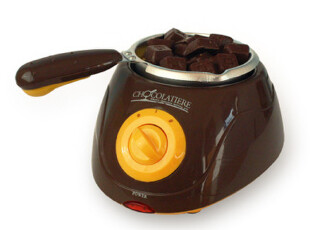 【韩国代购】正品铝制可爱DIY自制巧克力火锅附超多工具-巧克力色,厨房电器,