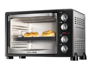 卡士Couss CO-2501 家用多功能烘焙烤箱 25L 上下独立控温,厨房电器,