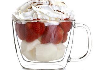 莱珍斯 简约创意双层玻璃杯  咖啡杯 茶杯 甜品杯 玻璃杯,咖啡器具,