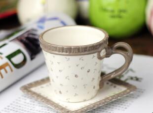 特惠 田园风格 英伦碎花立体浮雕咖啡杯 碟 套装,咖啡器具,