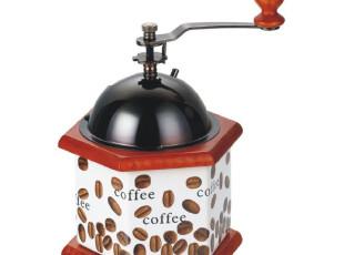 [凌柯生活] 六边形陶瓷咖啡磨 手摇家用磨豆机 手动咖啡磨,咖啡器具,