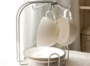 ★公主梦想★韩国家居*厨房餐桌必备*实用不锈钢咖啡杯碟架W2291,咖啡器具,