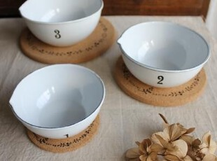 日式 软木制圆形咖啡壶垫 茶壶垫 凉水壶垫 碟垫 花枝 中,咖啡器具,