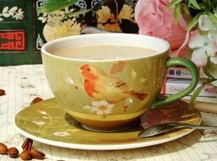 美克美家乡村/新古典主义陶瓷餐具/鸟语花香咖啡杯碟套装/陶瓷杯,咖啡器具,