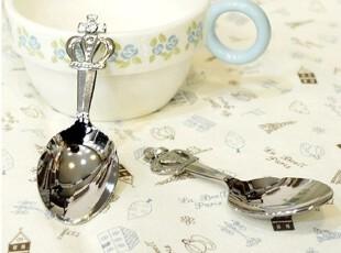 ★公主梦想★韩国*来自日本*公主皇冠*精致闪钻糖勺咖啡勺W2102,咖啡器具,