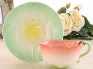 【长物志】郁金香|欧式骨瓷咖啡杯碟套装礼盒咖啡杯|四色选,咖啡器具,