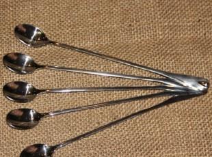韩国不锈钢时尚创意高档长柄咖啡勺子搅拌勺 超长勺 精致调羹,咖啡器具,