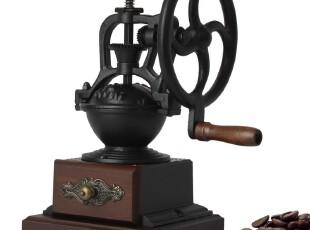 INFUN 复古圆轮铸铁咖啡磨豆机 台湾进口ctc手摇磨豆机 研磨机,咖啡器具,