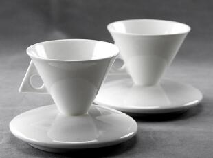 出口欧洲外贸 新宫廷骨瓷质 意式特浓缩咖啡杯碟子套装 白色Puro,咖啡器具,
