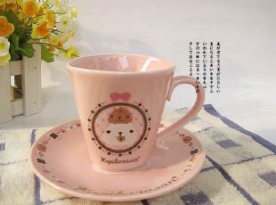 出口品  TRYWORKS  浮雕骨瓷咖啡套杯子  粉色,咖啡器具,