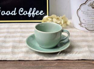 Bao ZAKKA 杂货 新骨瓷 小旧绿 咖啡杯碟,咖啡器具,