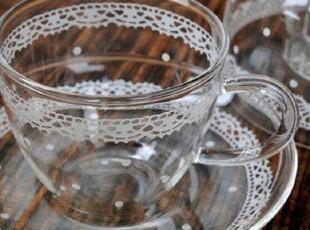 ★公主梦想★来自日本*蕾丝点点*浪漫唯美咖啡杯碟套装M1976,咖啡器具,