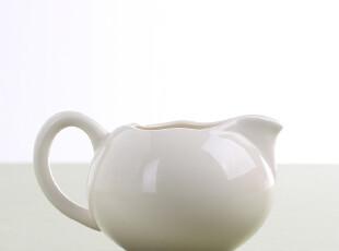 G进口花瓣系列白色陶瓷奶罐英式下午茶茶具,咖啡器具,