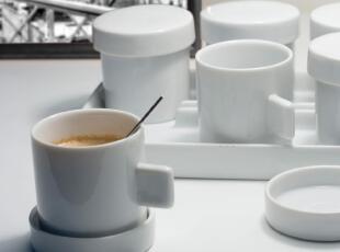 法国LEXON原装进口 享受别致生活 精巧陶瓷咖啡套装 含茶碟调羹,咖啡器具,