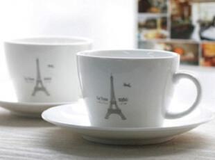 ★公主梦想★韩国家居*巴黎风*埃菲尔铁塔*咖啡杯碟两人组W1950,咖啡器具,