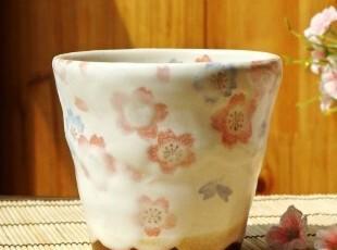森林系/日式和风/手工粉色樱花物语汤吞抹茶杯/咖啡杯/菊花茶杯,咖啡器具,