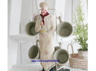 韩国代购 浓咖啡咖啡杯碟4套+收纳架,咖啡器具,