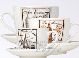 热销!【城市风情咖啡杯组】浓缩咖啡杯/拿铁咖啡杯/Cappuccino杯,咖啡器具,