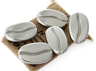 美国代购 咖啡豆外形 咖啡保温 恒温 不锈钢咖啡豆 5颗装,咖啡器具,