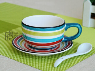 瑕疵咖啡杯|奶杯|水杯|外贸手绘陶瓷|出口餐具|原单尾货,咖啡器具,