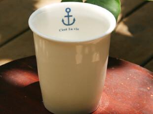 海军风格 海锚杯 水杯 咖啡杯 马克杯 zakka 杂货,咖啡器具,