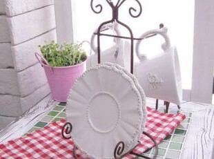 ●公主梦想●韩国家居*RomanticWhite*咖啡杯碟+杯架6件组M706,咖啡器具,
