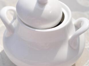 骨瓷糖缸、茶叶罐  纯白骨瓷 瓷润玉滑,咖啡器具,