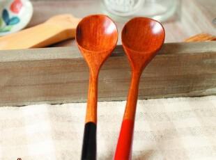 景商.日式和风/zakka杂货/北斋柏木别致情侣咖啡勺(2枚价),咖啡器具,