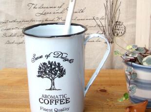 bao zakka 杂货 复古 做旧风格 zakka 搪瓷杯 咖啡杯 小树,咖啡器具,