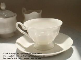 纯白骨瓷咖啡杯MUJI风格皇室咖啡杯碟英式杯碟创意杯子套装欧式,咖啡器具,