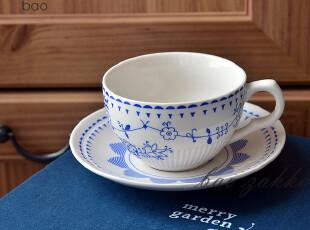 BAO ZAKKA 杂货 蓝色的花 咖啡杯碟  蓝色礼盒5件套杯碟,咖啡器具,