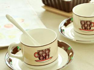 C'designer 原创.萌翻小清新的骨瓷咖啡杯碟.赠咖啡勺,咖啡器具,