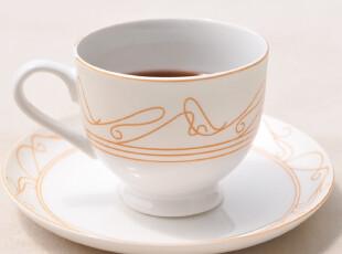Star mug 骨瓷咖啡杯 简约风咖啡杯碟 磨砂线条 音乐之声,咖啡器具,