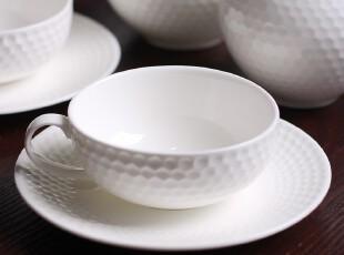 绘生活 陶瓷杯子 水杯 白瓷高尔夫球面咖啡杯 优雅时光1659,咖啡器具,