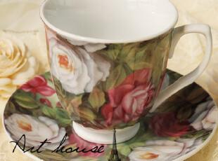 出口欧美雨林蔷薇陶瓷英式下午茶杯套/咖啡杯碟/奶杯/欧式红茶杯,咖啡器具,