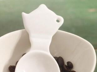 zakka 冰淇淋勺  陶瓷勺 茶叶勺 咖啡小勺 茶壶造型陶瓷勺 小勺子,咖啡器具,