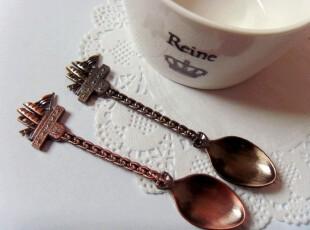zakka 出口金属帆船咖啡勺 复古海盗船咖啡搅拌勺 冰激凌勺 两色,咖啡器具,