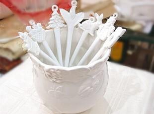 ZAKKA杂货 外贸 陶瓷西餐餐具 白色圣诞系列白玉咖啡勺 小勺,咖啡器具,