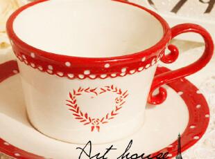 出口欧美星巴克风浮雕复古陶瓷咖啡杯碟 马克杯 奶杯 茶杯 杯子,咖啡器具,