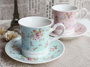 Farm House正品日式田园玫瑰陶瓷花茶杯子咖啡杯杯盘组套装 2款,咖啡器具,