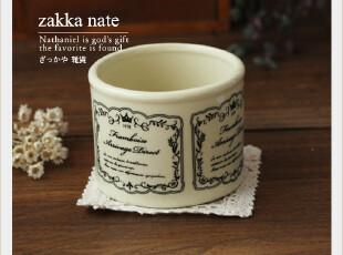 Zakka 杂货 复古英文陶瓷罐 甜品杯 冰淇淋杯 布丁杯 沙拉碗,咖啡器具,