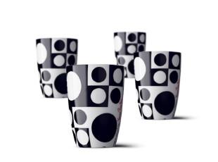 丹麦Menu Panton 隔热水杯/茶杯/咖啡杯 四件套 M4506939,咖啡器具,