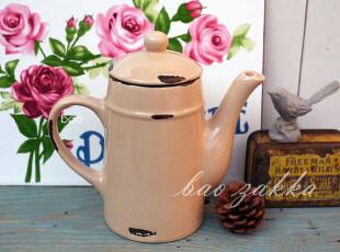 BAO ZAKKA 杂货 陶瓷仿搪瓷 浅咖色 复古 咖啡壶 油壶,咖啡器具,