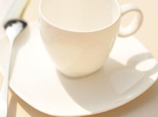 骨瓷咖啡杯碟,纯白欧洲风情,简约风格 浓缩咖啡杯碟-BC002,咖啡器具,