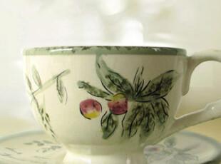 Rose & Roman 玫瑰罗曼 紫葡萄美式咖啡杯 杯碟套,咖啡器具,