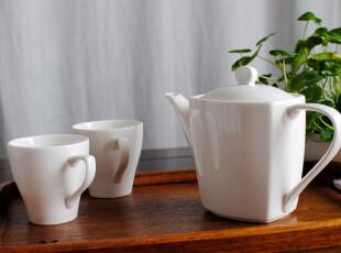 """外贸陶瓷餐具 出口瓷器""""聆听"""" 陶瓷茶具咖啡杯 壶 陶瓷3件套装,咖啡器具,"""