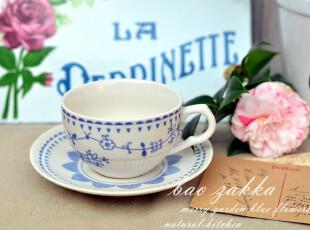 BAO ZAKKA 杂货 日本MERRY GARDEN 蓝色的花 咖啡杯碟 家居饰品,咖啡器具,