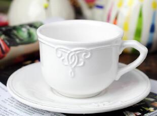 田园牧歌 陶瓷 巴洛克浮雕咖啡杯咖啡碟套装,咖啡器具,
